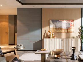 素雅禪意新中式風格客廳設計裝修效果圖