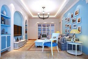 三居室装修客厅效果图