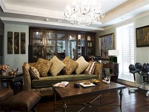 新古典風格婚房客廳布置效果圖