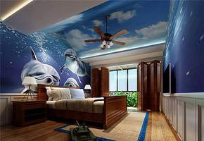 歐式風格閣樓臥室裝修效果圖