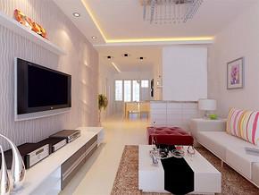 現代客廳側面效果圖