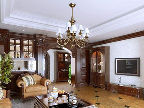 美式風格客廳裝修設計效果圖