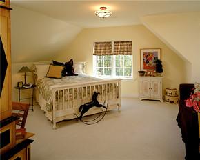 欧式田园风格儿童卧室装修效果图