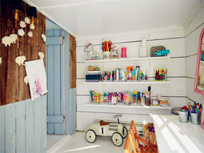 北欧风格儿童房实用背景墙收纳设计图