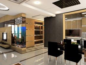 现代奢华装修风格简约餐厅效果图