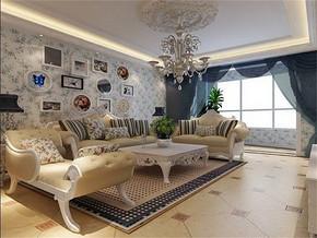 地中海風格客廳家居裝修效果圖