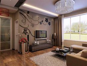 现代风格简约电视背景墙效果图