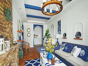色彩绚丽地中海三室装修效果图