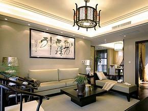 中式風格客廳吊燈裝修效果圖