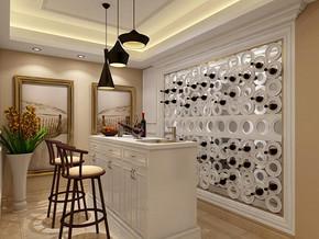 美式风格吧台酒柜装修效果图