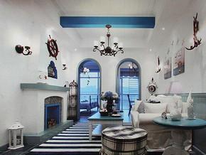 地中海风格客厅吊顶装修效果图