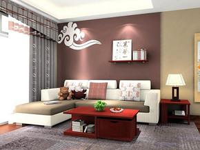 中式古典风格客厅装修设计效果图
