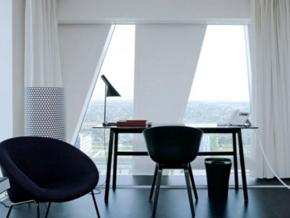 黑白時尚現代風格書房設計裝修效果圖
