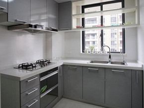 簡歐風格廚房裝修效果圖