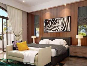 现代简约风格卧室背景墙装修效果图