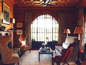 溫馨典雅美式風格客廳吊頂裝修效果圖