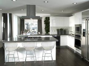 欧式厨房橱柜吧台装修效果图