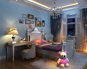欧式地中海风格儿童房装修效果图