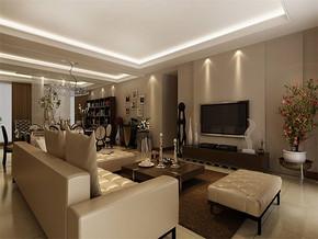 现代风格客厅装潢效果图