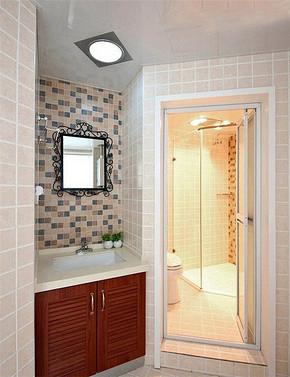 现代小清新风格不规则卫生间装修效果图