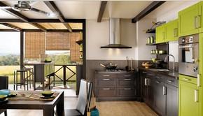 现代风格田园乡村别墅开放式厨房装修效果图