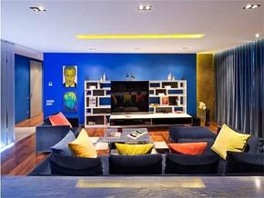 地中海風格客廳裝修設計效果圖