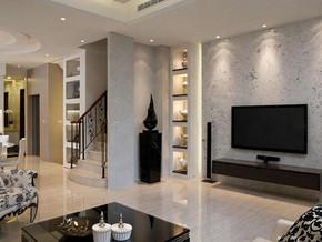 欧美风格客厅电视背景墙装修效果图