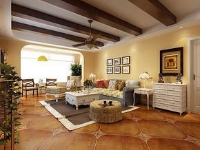 田园风格两室两厅一卫装修效果图