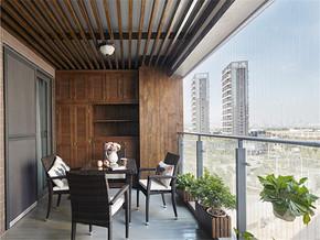 138平美式四居室陽臺設計圖
