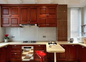 中式風格廚房裝修效果圖