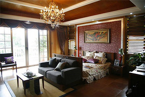 复古欧式卧室装修效果图