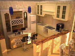 地中海风格厨房橱柜装修效果图