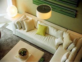 現代簡約風格小戶型客廳電視背景墻效果圖