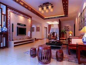 简单大气时尚中式客厅装修效果图