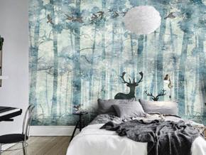 自然簡約北歐風格臥室背景墻設計裝修圖