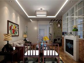 美式风格客厅隐形门装修效果图