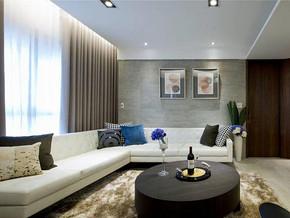 現代簡約風格客廳沙發背景墻裝修效果圖