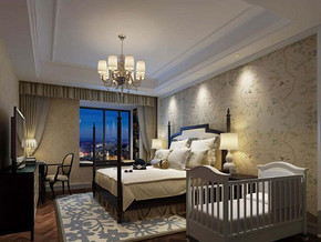 美式风格卧室墙面装修效果图
