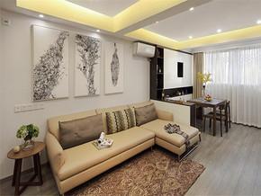 现代韩式三室装修效果图