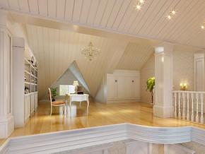 歐式風格閣樓書房裝修效果圖