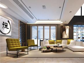 中式風格客廳吊頂裝修效果圖
