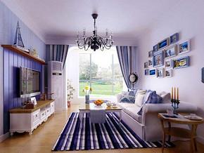 地中海风格客厅背景墙装修效果图