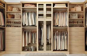 簡歐風格定制衣柜衣柜布局裝修效果圖