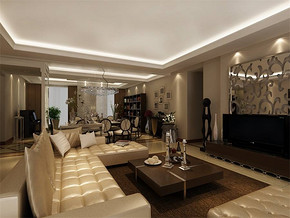 現代風格客廳室內裝飾圖