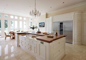 歐式風格開放式廚房整體櫥柜裝修效果圖