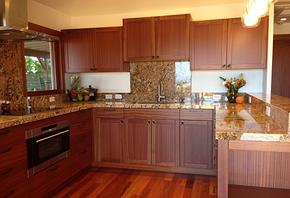 美式风格厨房实木橱柜装修效果图