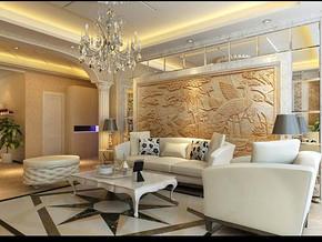 新古典風格客廳背景墻裝修效果圖