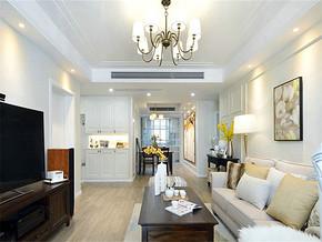 130平美式风格公寓吊顶装修图