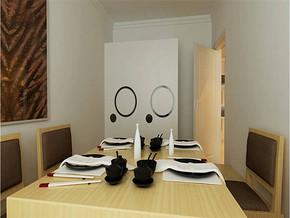 现代简约餐厅效果图