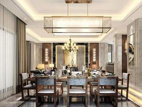 新中式風格餐廳吊燈裝修效果圖